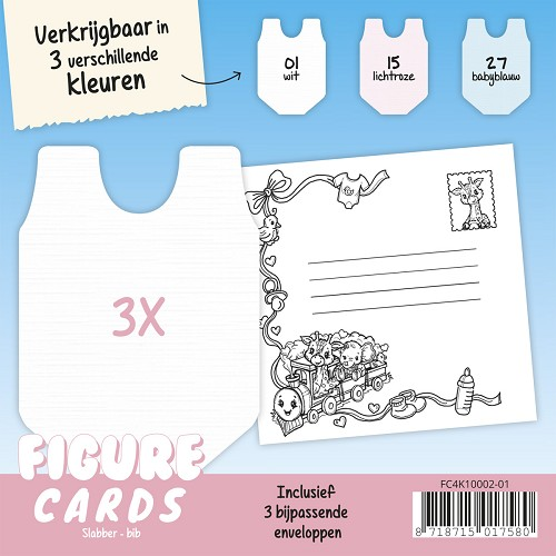 Figure Cards - Slabbetje - Wit