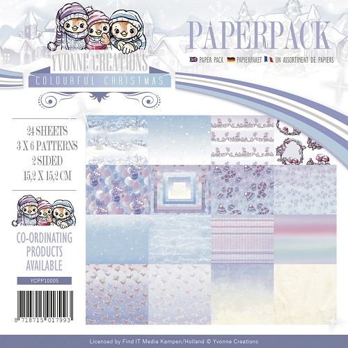 Paperpack - Yvonne Creations - Colourful Christmas