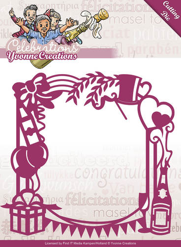 Die - Yvonne Creations - Celebrations - Party Frame