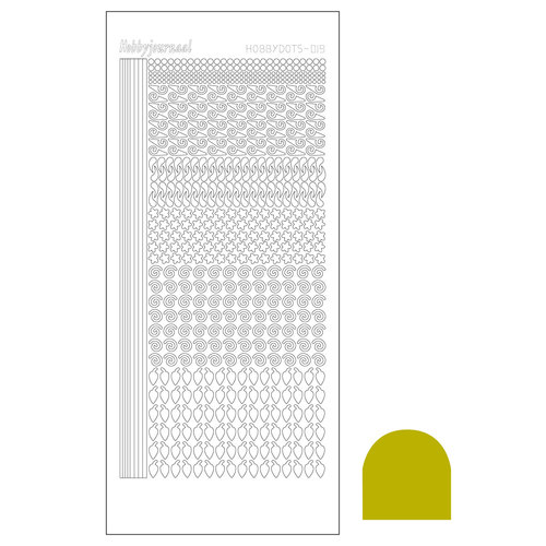Hobbydots sticker - Mirror Yellow