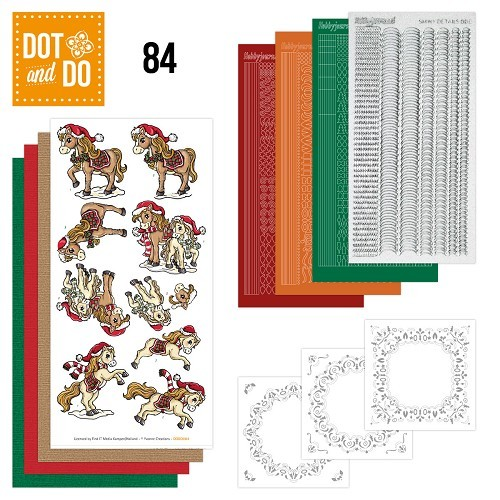 Dot and Do 84 - Yvonne Creations - Kerstpaarden