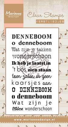 Clear Stamp kerstlied Oh denneboom