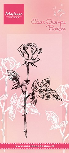 Clear Stamp Tiny`s single rose