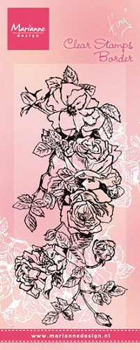 Clear Stamp Tiny`s border roses