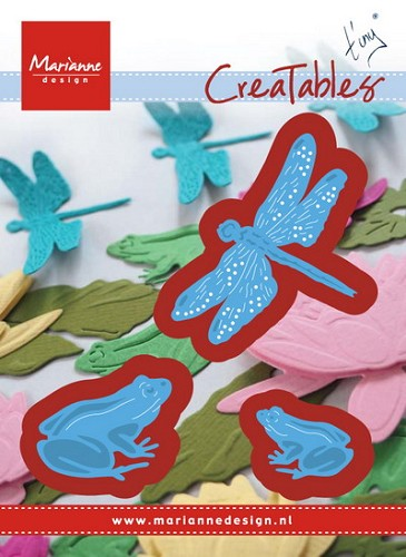 Creatables stencil Tiny`s frogs and dragonfly