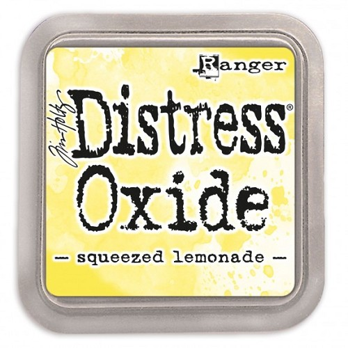 Ranger Tim Holtz distress oxide squeezed lemonade