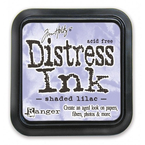 Tim Holtz distress ink pad shaded lilac