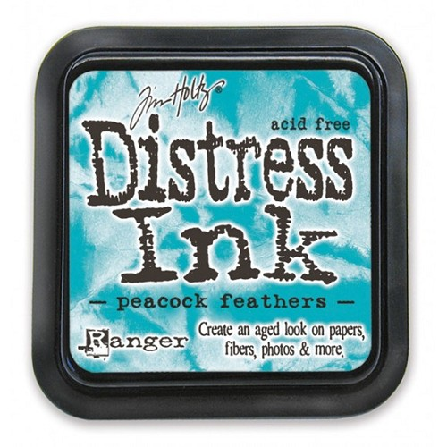 Tim Holtz mini distress ink pad peacock feathers