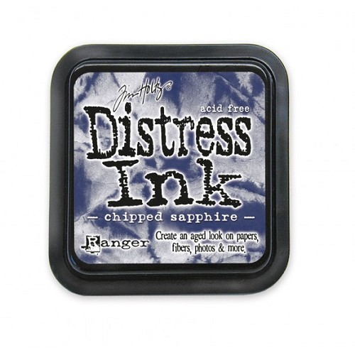 Tim Holtz mini distress ink pad chipped sapphire