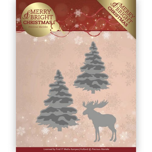 Dies - Precious Marieke - Merry and Bright Christmas - Forest