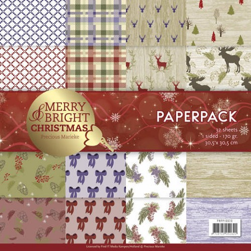 Paperpack - Precious Marieke - Merry and Bright Christmas