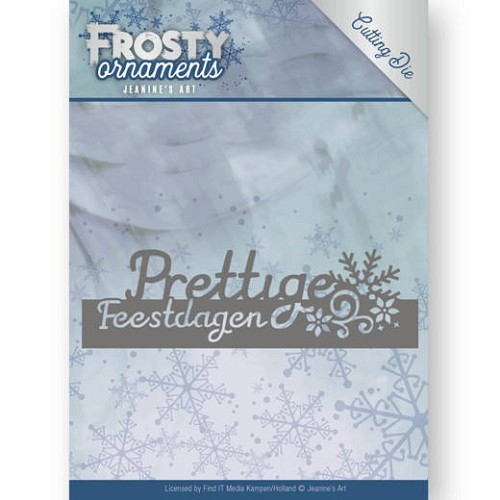 Dies - Jeanine's Art - Frosty Ornaments - Text Prettige Feestdagen