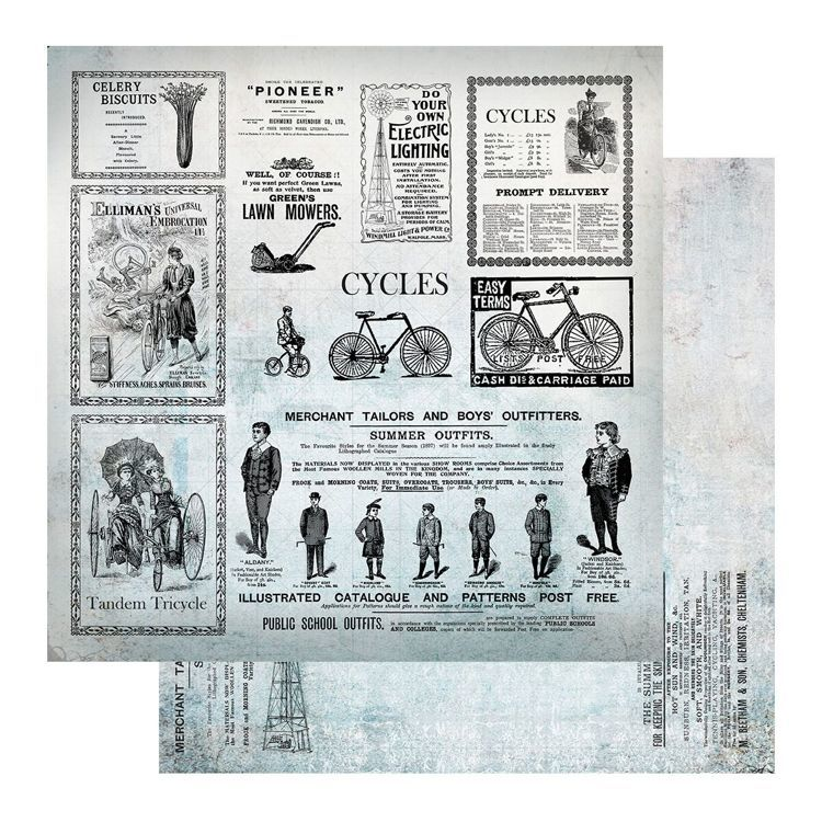 Paper - 12 x 12in - Gentleman's Emporium Sheet 11