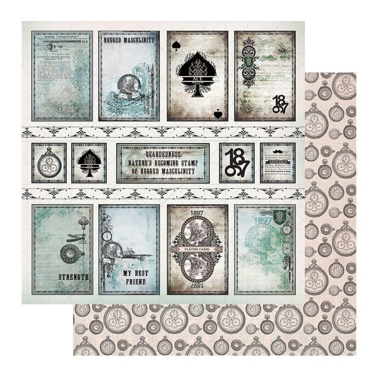 Paper - 12 x 12in - Gentleman's Emporium Sheet 10