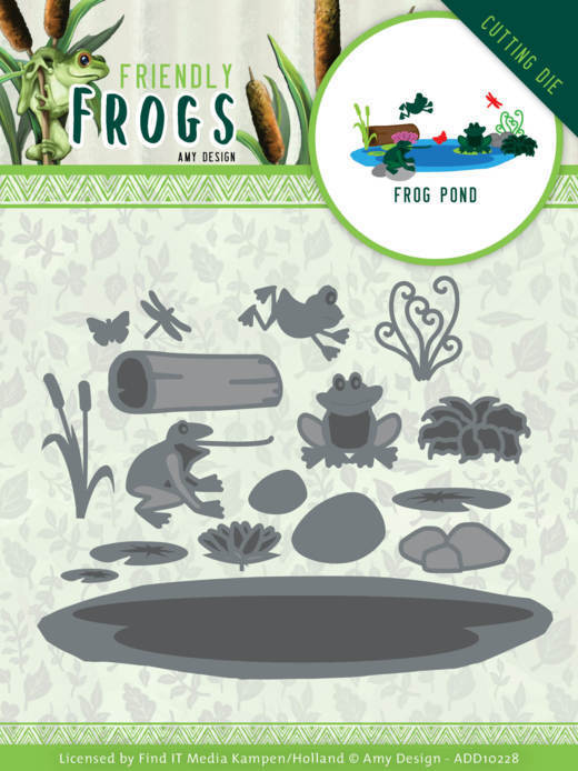 Dies - Amy Design - Friendly Frogs - Frog Pond