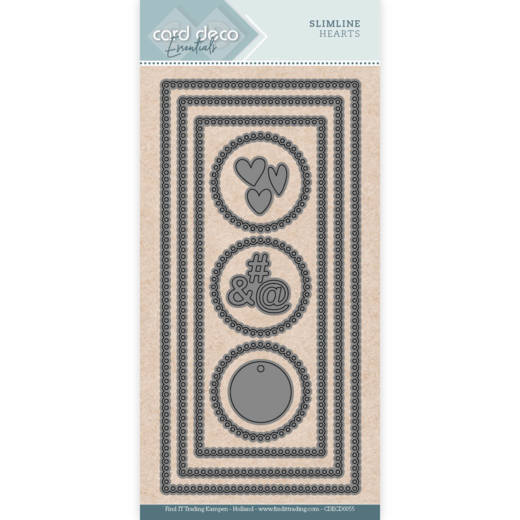 Card Deco Essentials - SlimLine Dies - Slimline Hearts