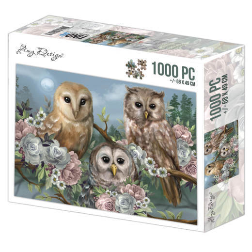 Jigsaw puzzel 1000 pc - Amy Design - Romantic Owls
