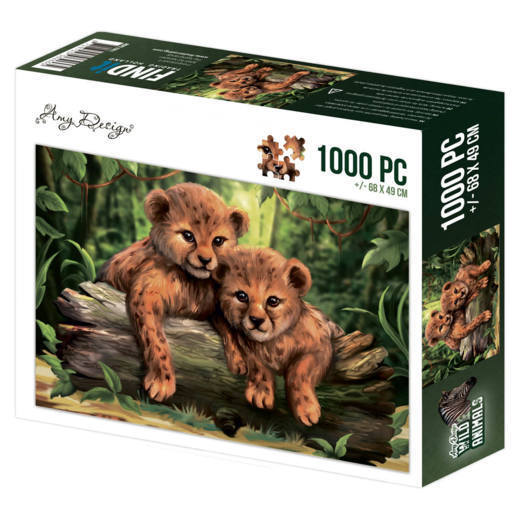 puzzel 1000 pc - Amy Design - Wild Animals - Cubs