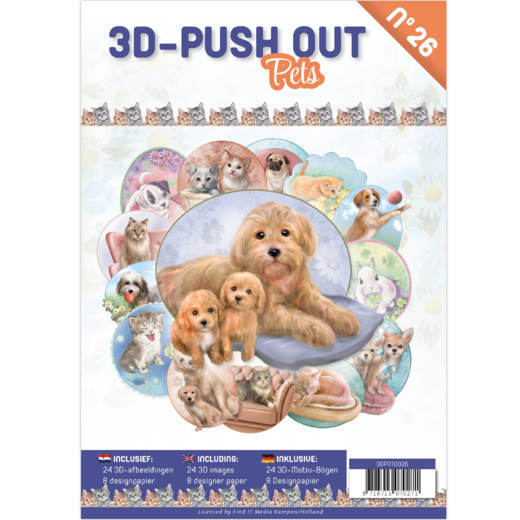 3D Push Out boek 26 - Pets