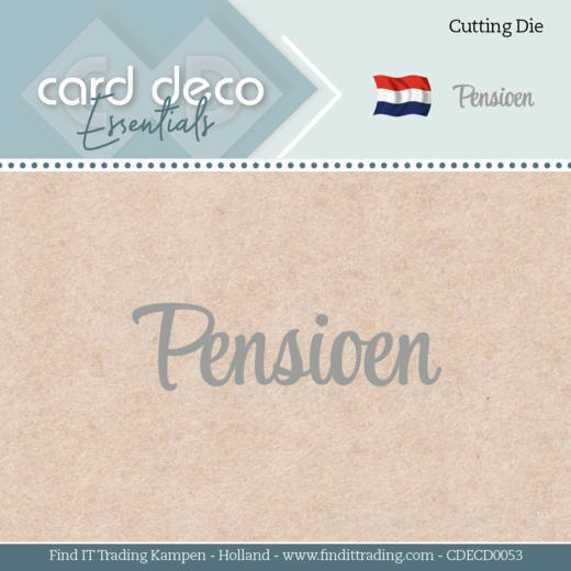 Card Deco Essentials - Dies - Pensioen