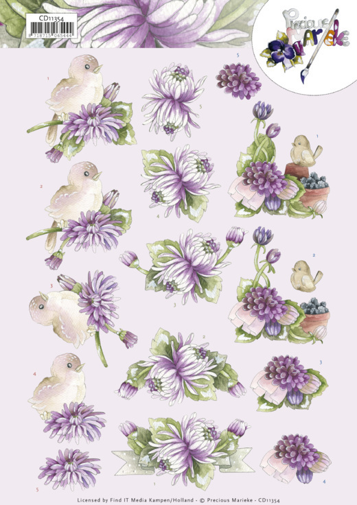 3D Cutting Sheet - Precious Marieke - Chrysanthemum