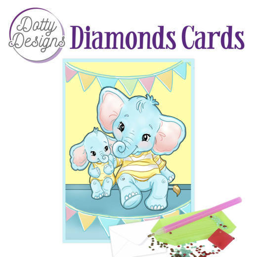 Dotty Designs Diamond Cards - Elephants