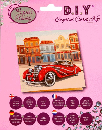 Crystal Card Kit  Classic Car 18x18 cm