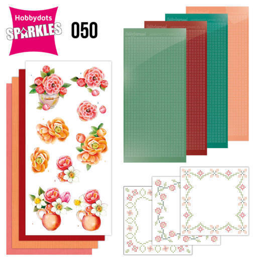 Sparkles Set 50 -  Jeanine's Art - Orange Flowers