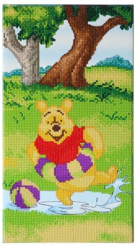 Crystal Art Kit® Disney Winnie Splashing (deel 3 drieluik)