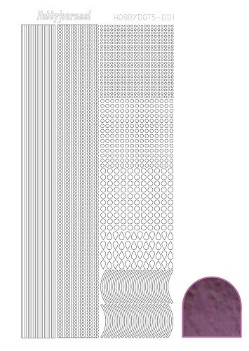 Hobbydots sticker mirror violet 1
