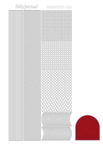 Hobbydots sticker mirror red 1