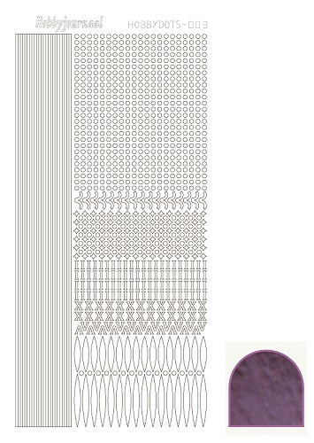 Hobbydots sticker mirror violet 3