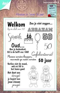 50 jaar sara abraham Joy! stempel Sarah   Abraham 50 jaar `t Hobby Schuurke 50 jaar sara abraham