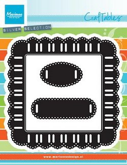 Craftables stencil ribbon square
