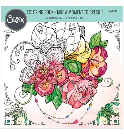 Colouring Book(Sizzix) Take a Moment to Breathe