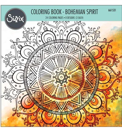 Colouring Book(Sizzix) Bohemian Spirit