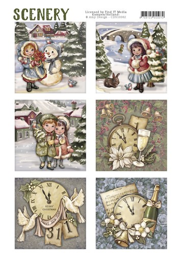 Die Cut Topper - Scenery - Classic Christmas